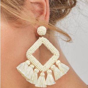 Last one! Ivory Seed Bead Earrings